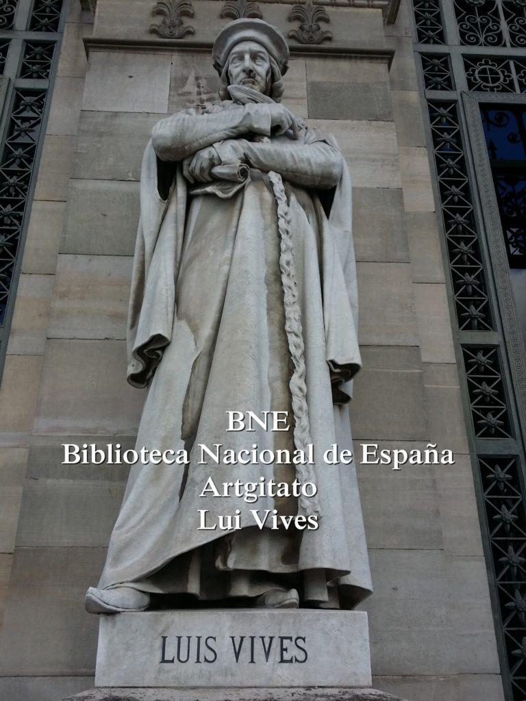 BNE Biblioteca Nacional de España Biblitothèque Nationale d'Espagne Artgitato Madrid Luis Vivès