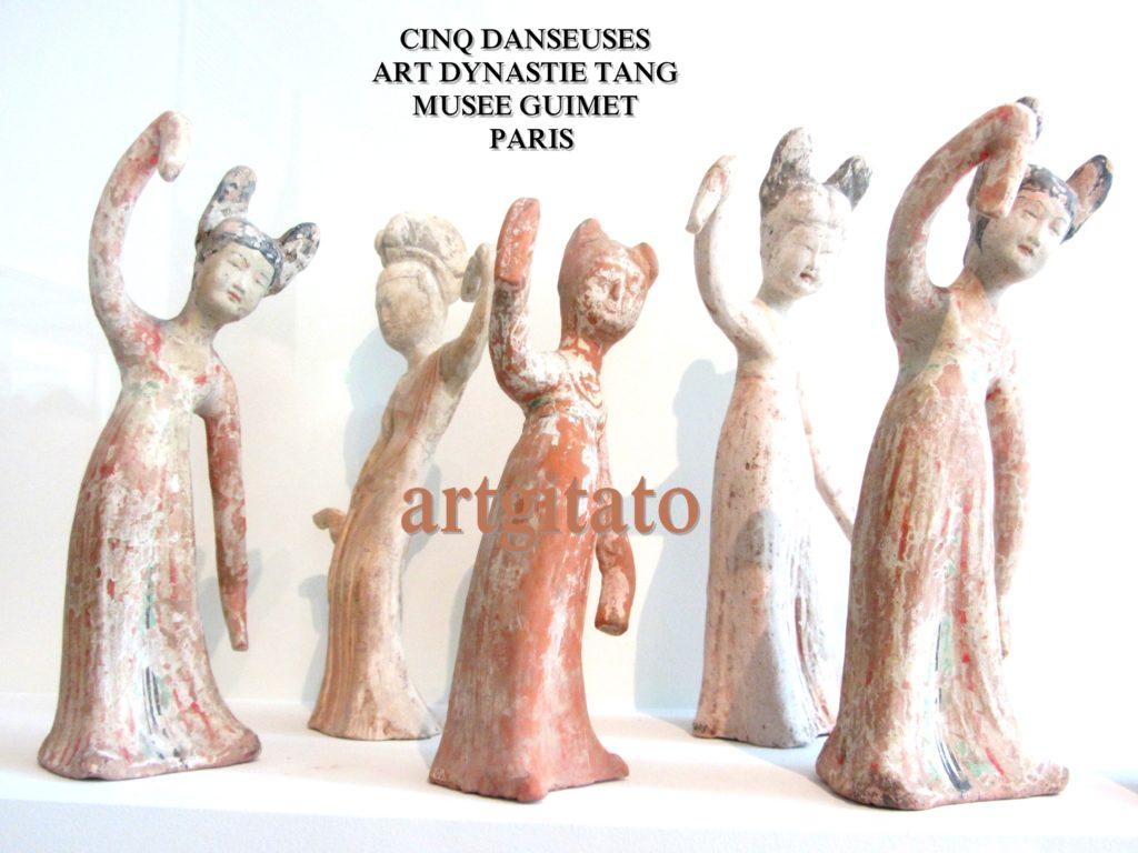 CINQ DANSEUSES - ART DYNASTIE TANG - MUSEE GUIMET - PARIS Artgitatp