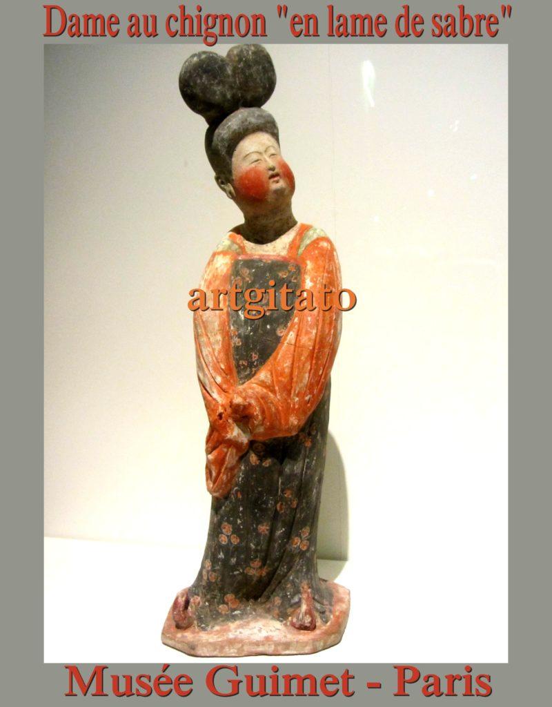 Dame au chignon en lame de sabre Dynastie Tang Musée Guimet Artgitato 2