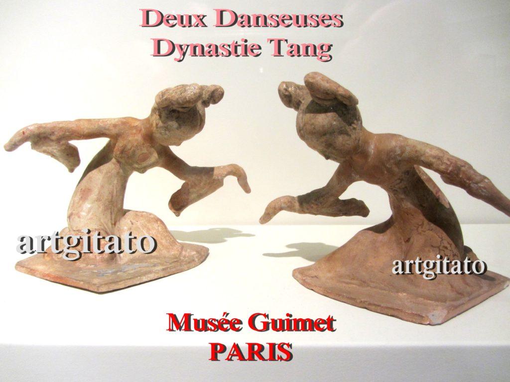 Deux danseuses Dynastie Tang Musée Guimet Paris Artgitato