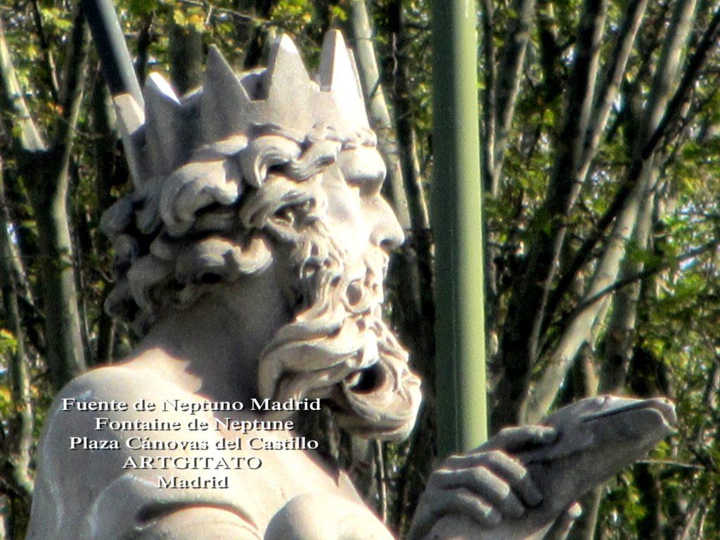 Fuente de Neptuno Madrid Fontaine de Neptune Artgitato Plaza Canovas del Castillo 1