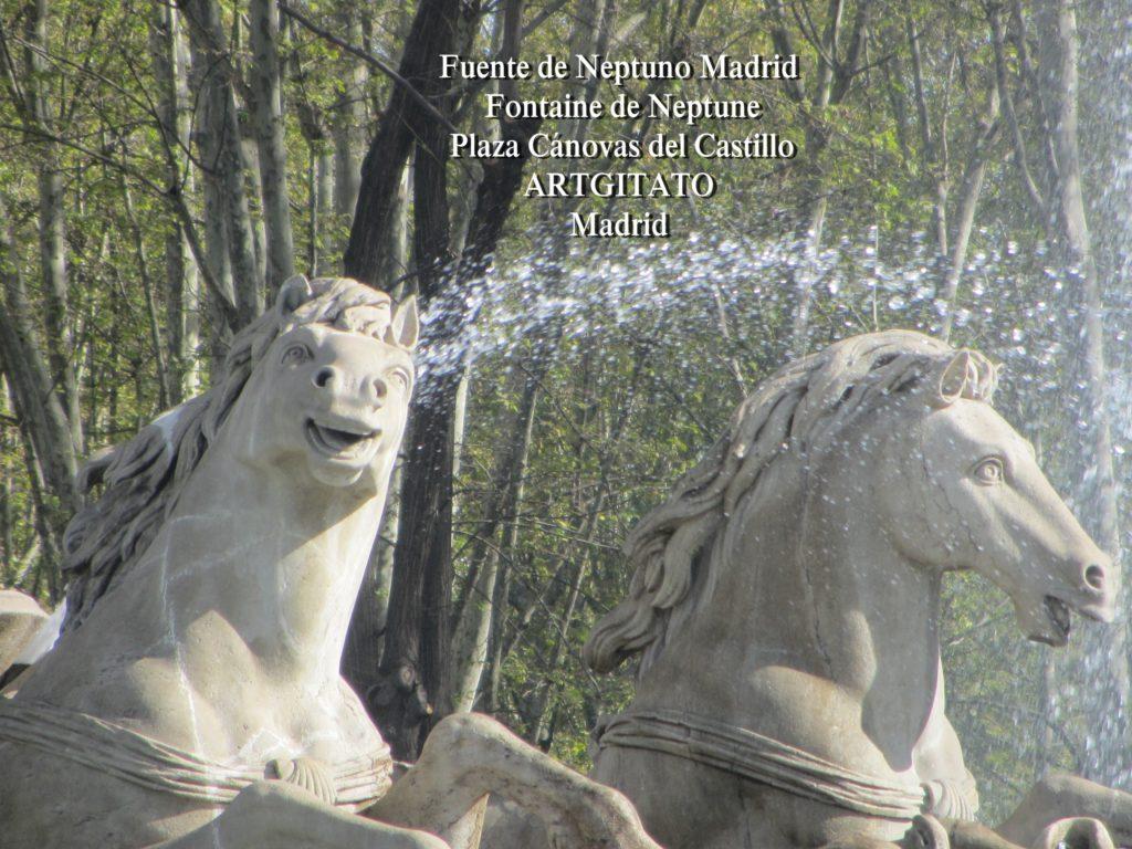 Fuente de Neptuno Madrid Fontaine de Neptune Artgitato Plaza Canovas del Castillo 2
