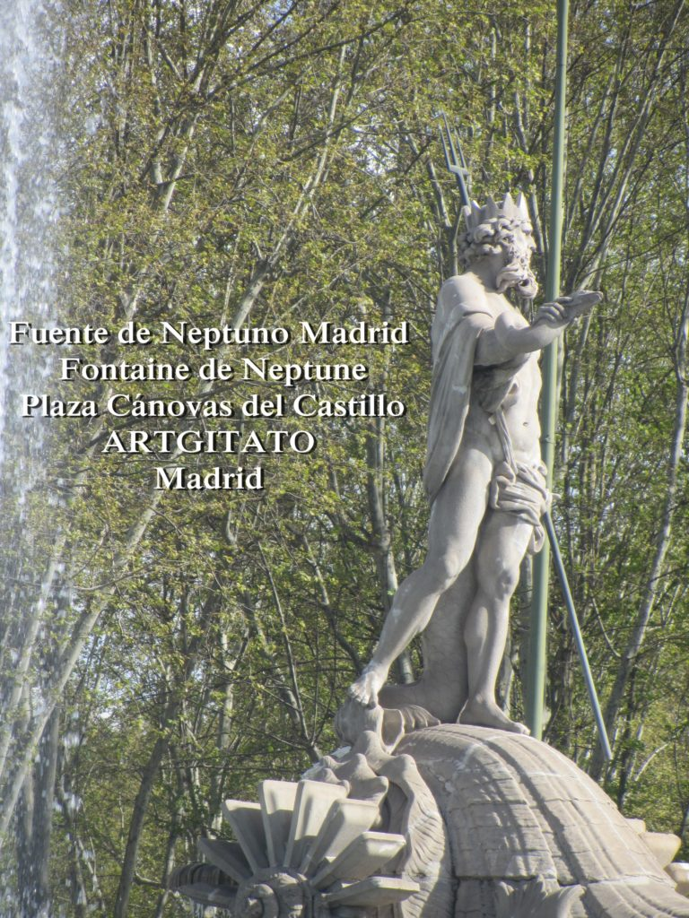 Fuente de Neptuno Madrid Fontaine de Neptune Artgitato Plaza Canovas del Castillo 3