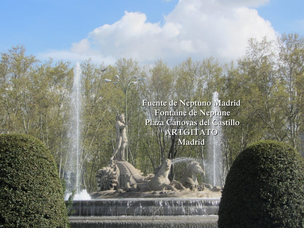 Fuente de Neptuno Madrid Fontaine de Neptune Artgitato Plaza Canovas del Castillo 4