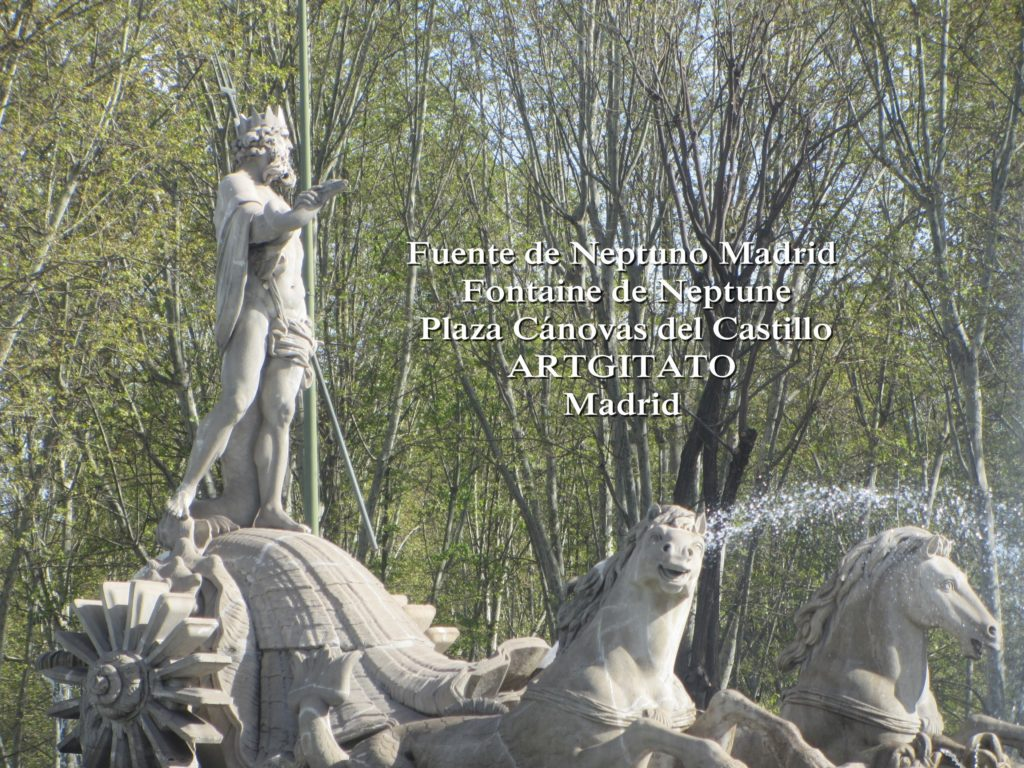 Fuente de Neptuno Madrid Fontaine de Neptune Artgitato Plaza Canovas del Castillo 5