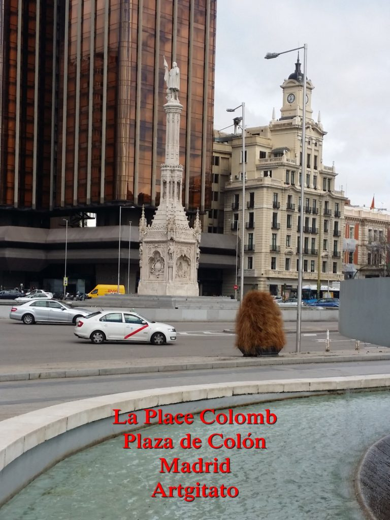 La Place Colomb Plaza de Colon Madrid Artgitato