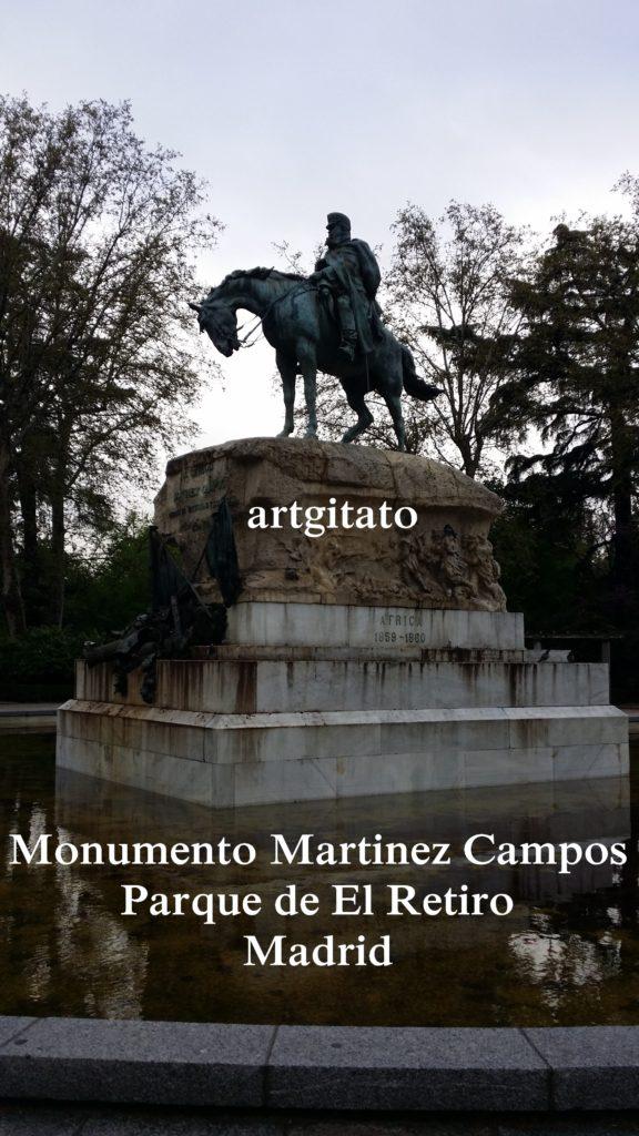 Martinez Campos Monumento Monument Parque de El Retiro Madrid Artgitato (1)