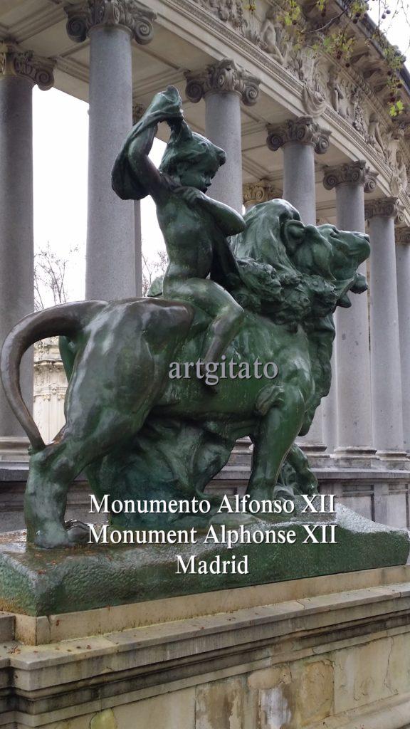 Monumento Alfonso XII Monument Alphonse XII Parque de El Retiro Madrid Artgitato 1