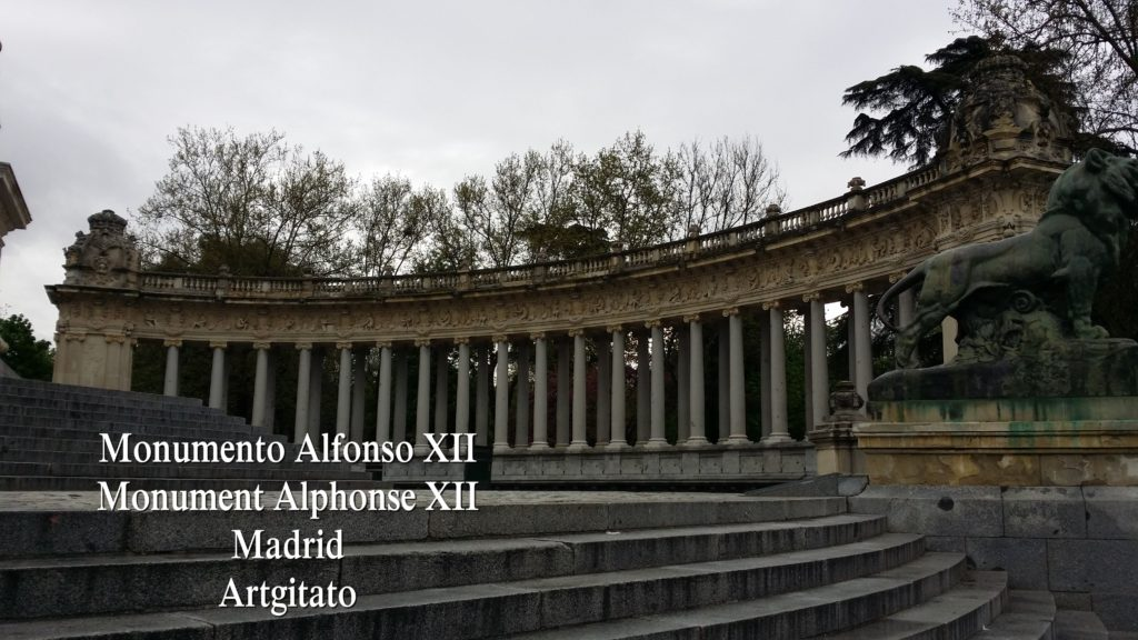 Monumento Alfonso XII Monument Alphonse XII Parque de El Retiro Madrid Artgitato 205