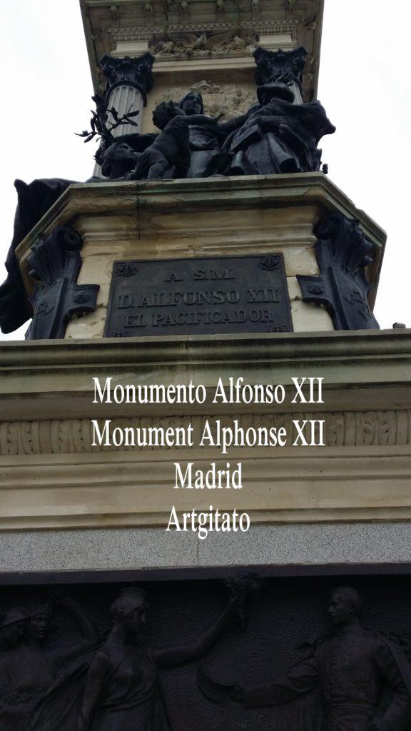 Monumento Alfonso XII Monument Alphonse XII Parque de El Retiro Madrid Artgitato 207