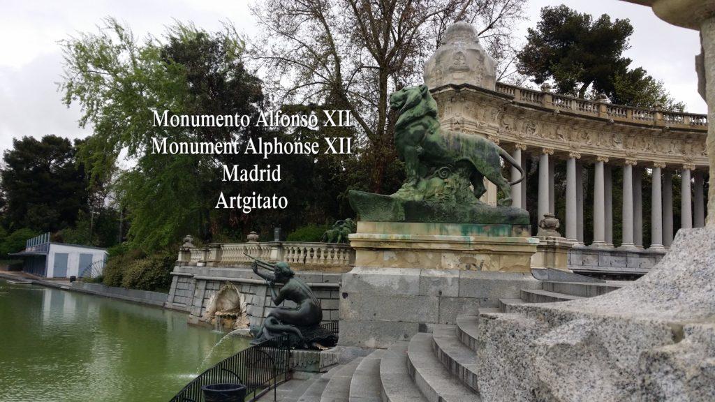 Monumento Alfonso XII Monument Alphonse XII Parque de El Retiro Madrid Artgitato 210