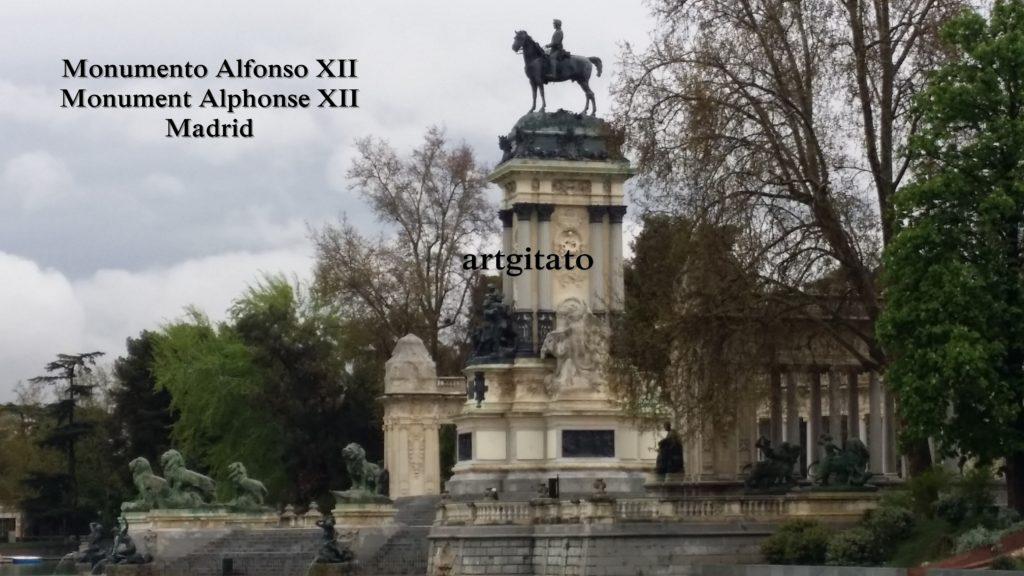 Monumento Alfonso XII Monument Alphonse XII Parque de El Retiro Madrid Artgitato 3