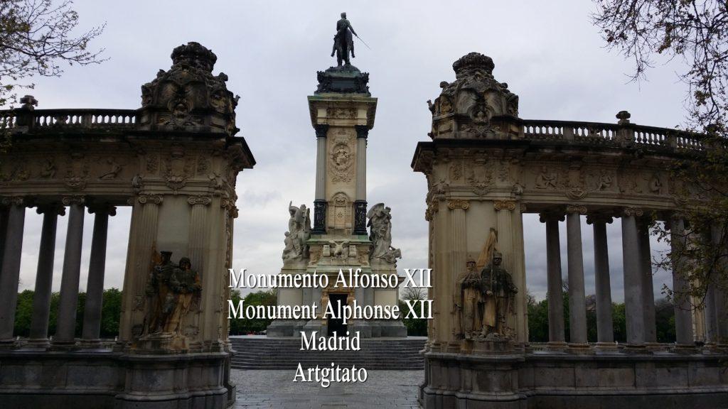 Monumento Alfonso XII Monument Alphonse XII Parque de El Retiro Madrid Artgitato 300