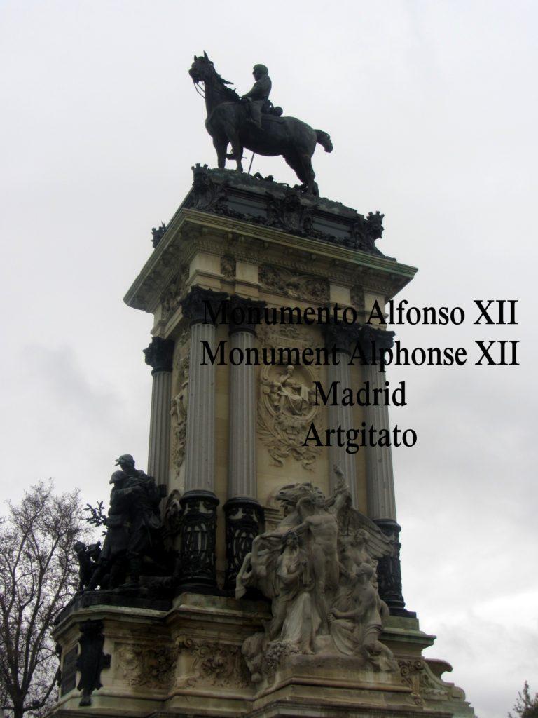 Monumento Alfonso XII Monument Alphonse XII Parque de El Retiro Madrid Artgitato 401