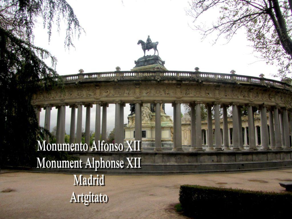 Monumento Alfonso XII Monument Alphonse XII Parque de El Retiro Madrid Artgitato 406