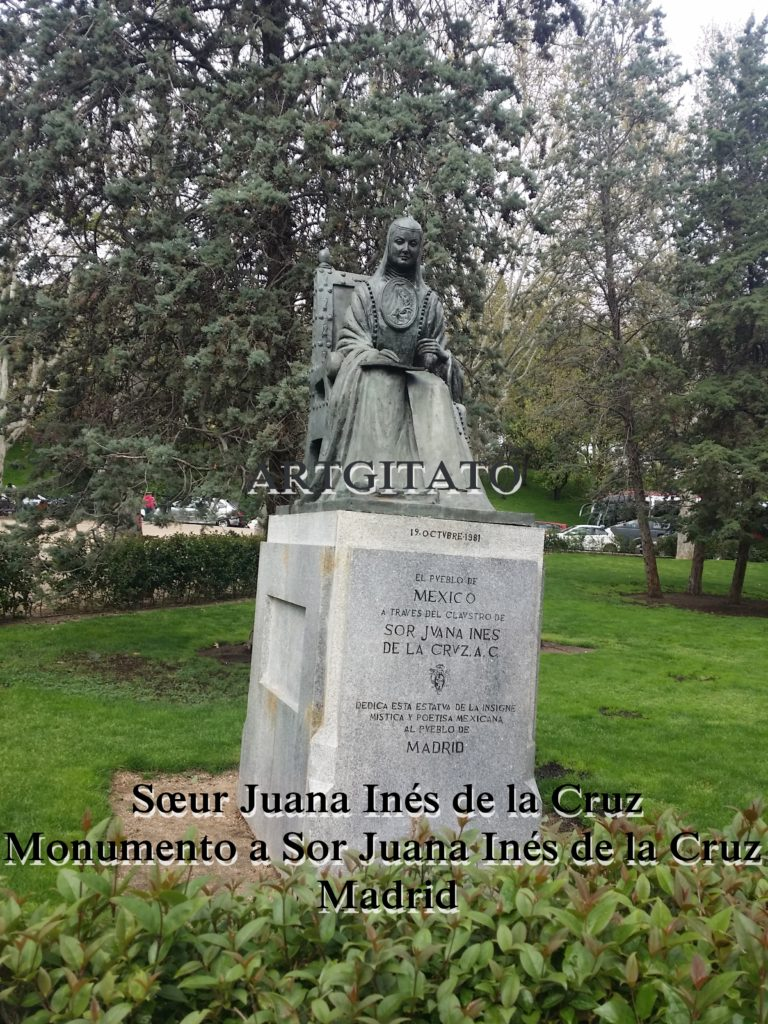 Sœur Juana Inés de la Cruz Monumento a Sor Juana Inés de la Cruz Madrid Artgitato (1)