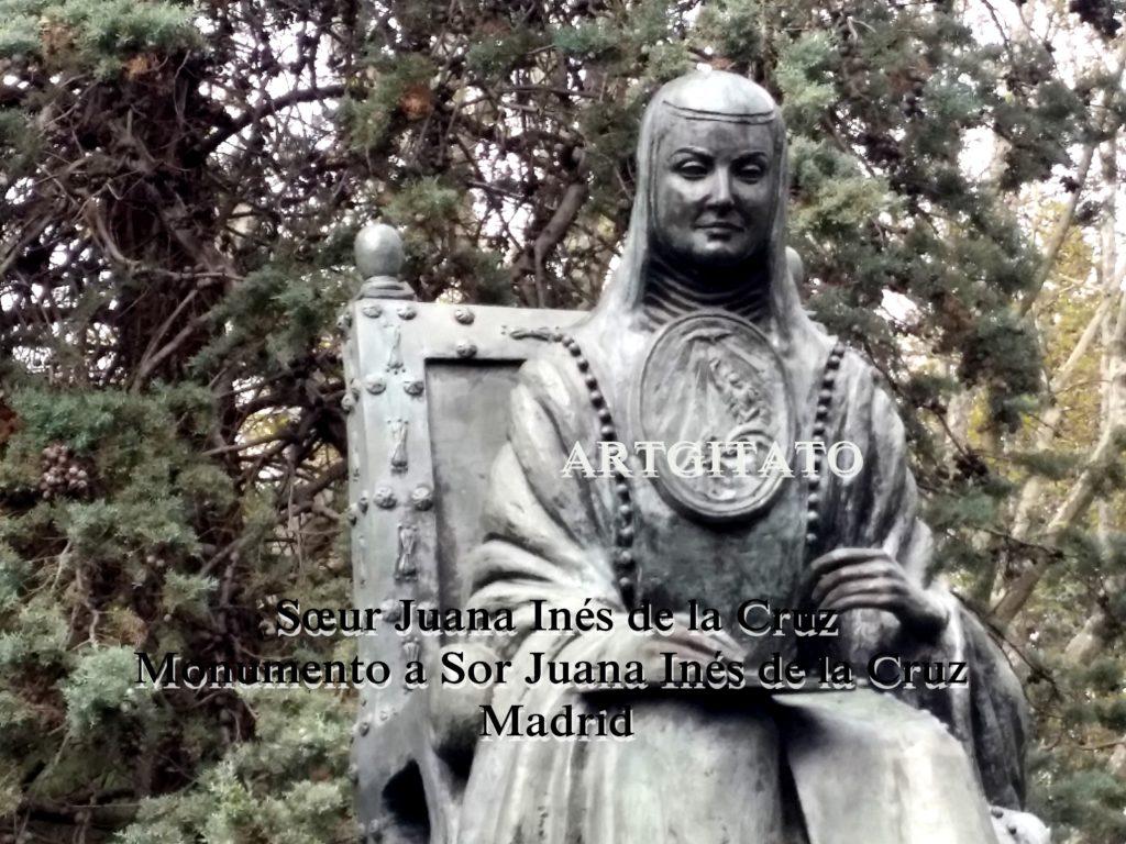 Sœur Juana Inés de la Cruz Monumento a Sor Juana Inés de la Cruz Madrid Artgitato (3)