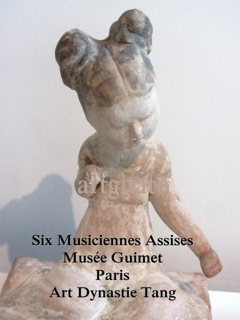 Six Musiciennes Assises Art dynastie Tang Musée Guimet Artgitato Paris 1
