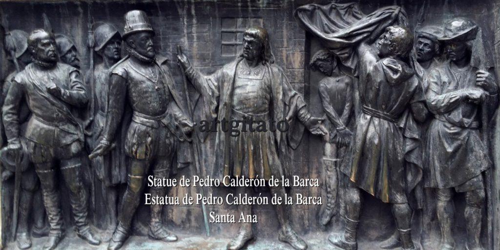 Statue de Pedro Calderón de la Barca Estatua de Pedro Calderón de la Barca Plaza Santa Ana Place Sainte Anne Artgitato 3