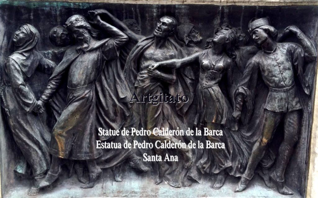 Statue de Pedro Calderón de la Barca Estatua de Pedro Calderón de la Barca Plaza Santa Ana Place Sainte Anne Artgitato 4