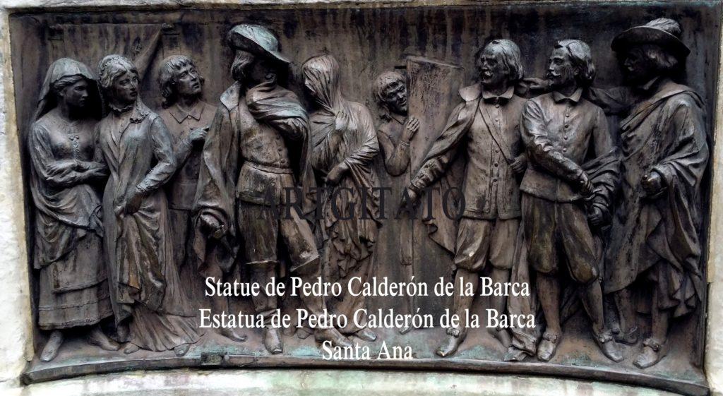 Statue de Pedro Calderón de la Barca Estatua de Pedro Calderón de la Barca Plaza Santa Ana Place Sainte Anne Artgitato 5
