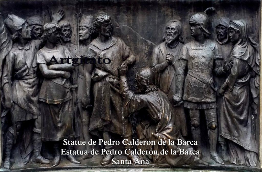 Statue de Pedro Calderón de la Barca Estatua de Pedro Calderón de la Barca Plaza Santa Ana Place Sainte Anne Artgitato 6