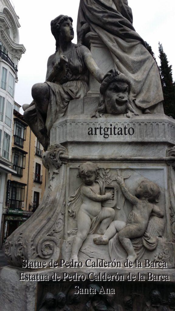Statue de Pedro Calderón de la Barca Estatua de Pedro Calderón de la Barca Plaza Santa Ana Place Sainte Anne Artgitato 9