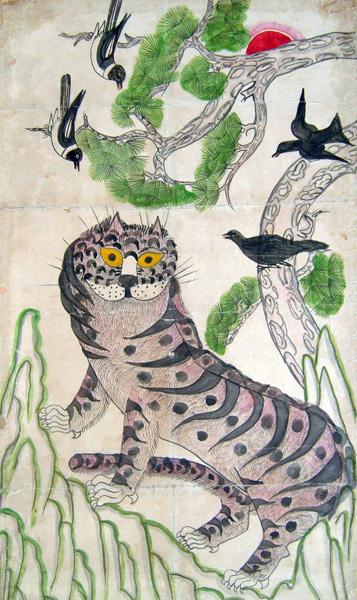 Tigre et Pie art Coréen 3