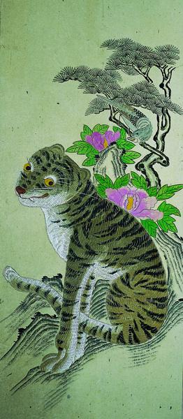 Tigre et Pie art Coréen 4