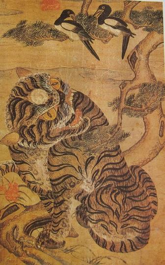 Tigre et Pie art Coréen 5