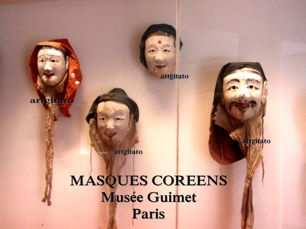 masques coréens musée guimet Paris Artgitato 0