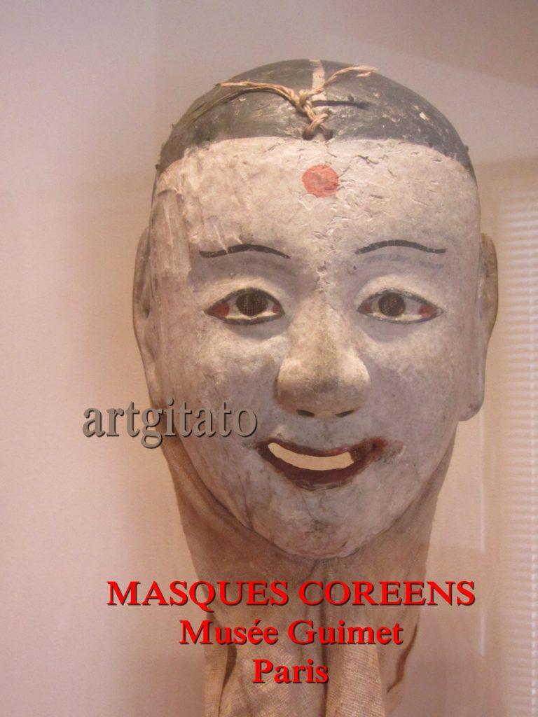 masques coréens musée guimet Paris Artgitato 1