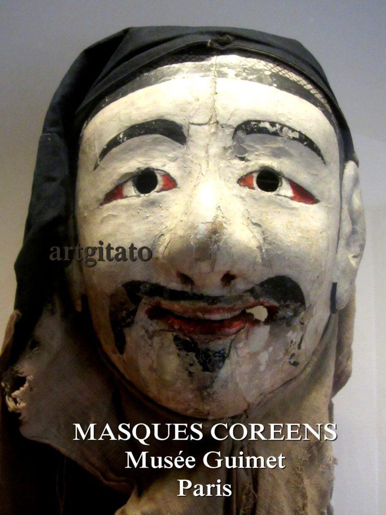 masques coréens musée guimet Paris Artgitato 2