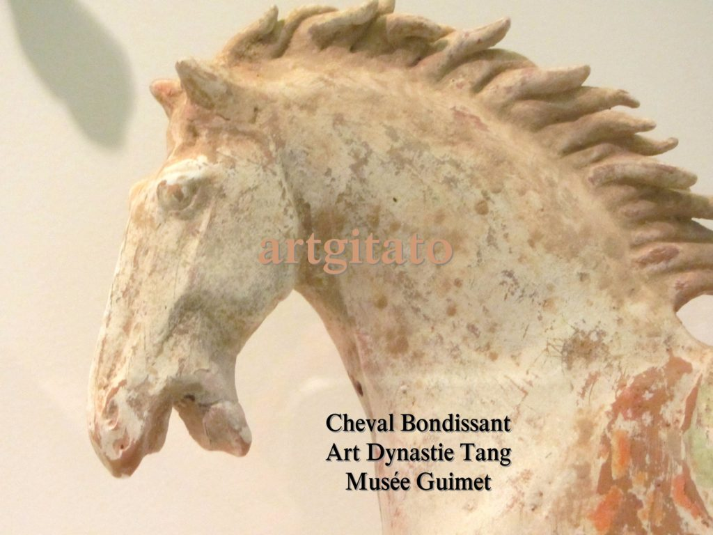 Cheval Bondissant Art Tang Dynastie Tang Musée Guimet Paris Artgitato