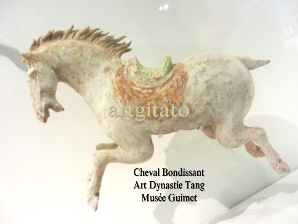 Cheval Bondissant Art Tang Dynastie Tang Musée Guimet Paris Artgitato 2