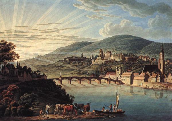 Friedrich Rottmann Heidelberg vom Neuenheimer Ufer, um 1800