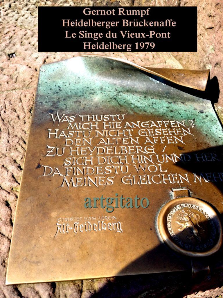 Gernot Rumpf Heidelberger Brückenaffe Affe Skulptur Affe an der alten Brücke Le Singe du Vieux-Pont Heidelberg Artgitato (4)