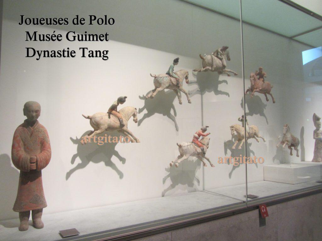 Joueuses de Polo Musée Guimet Paris Art Tang Artgitato 0