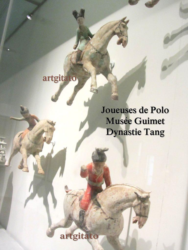 Joueuses de Polo Musée Guimet Paris Art Tang Artgitato 1