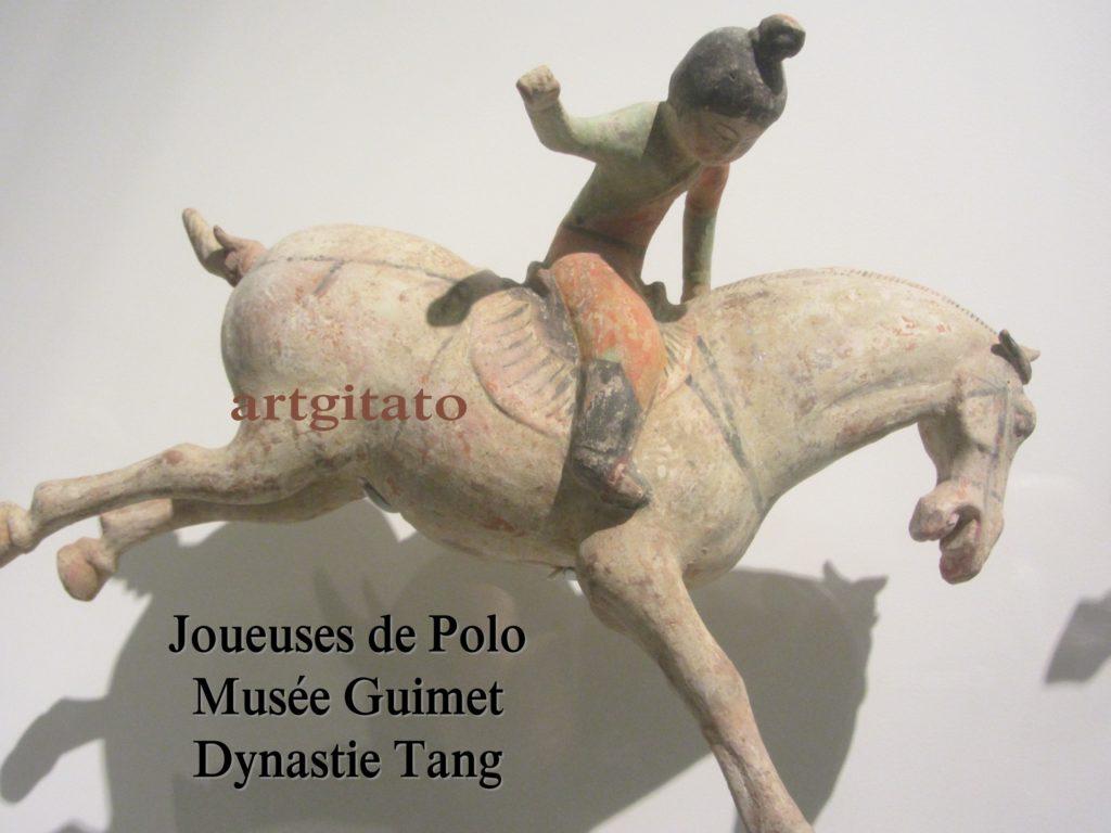 Joueuses de Polo Musée Guimet Paris Art Tang Artgitato 2