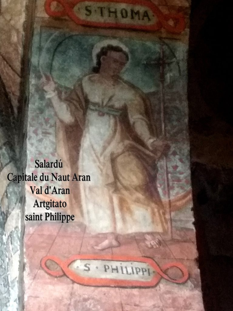 Salardú Capitale du Naut Aran Val d'Aran Artgitato Pyrénées Espagne 17 saint philippe