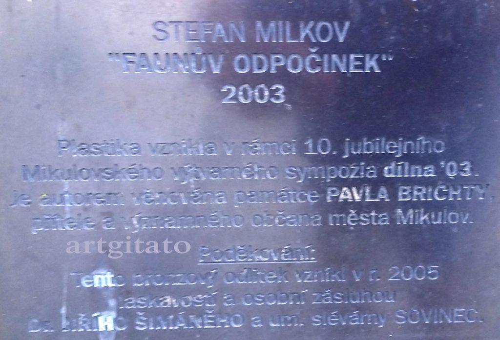 Stefan Milkov Mikulov Artgitato Mikulov Faunuv odpocinek (2)