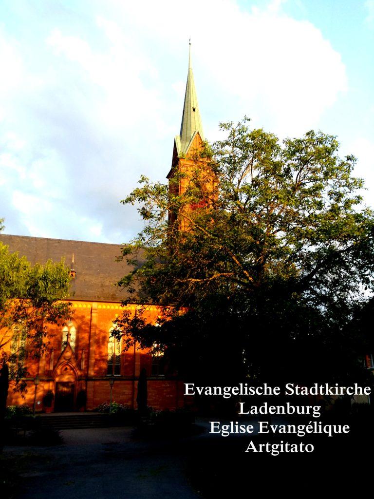 Evangelische Stadtkirche Ladenburg l'Eglise Evangélique de Ladenburg Artgitato (1)
