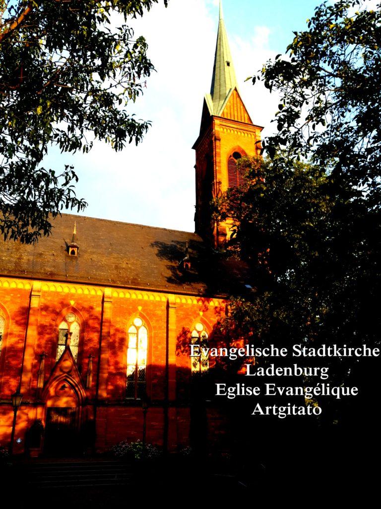 Evangelische Stadtkirche Ladenburg l'Eglise Evangélique de Ladenburg Artgitato (2)