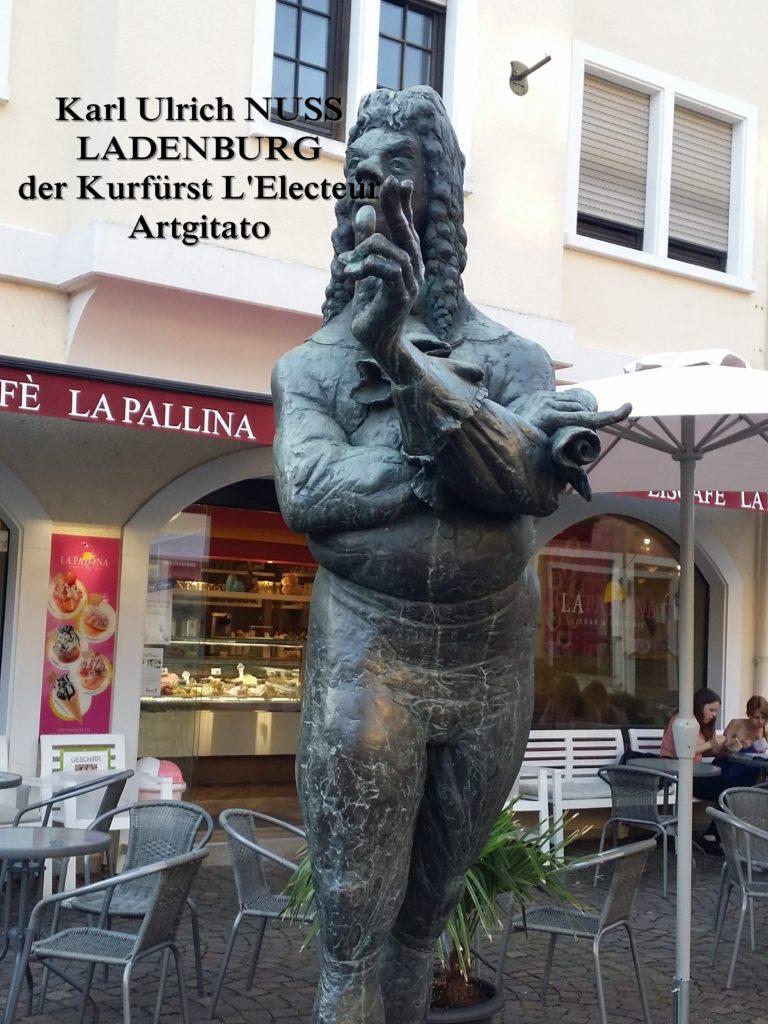 Karl Ulrich Nuss - Skulpturen auf dem Domhofplatz LADENBURG - der Kurfürst L'Electeur Artgitato (2)