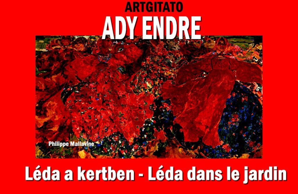 Léda a kertben Léda au Jardin Ady Endre Ady Artgitato Philippe Maliavine