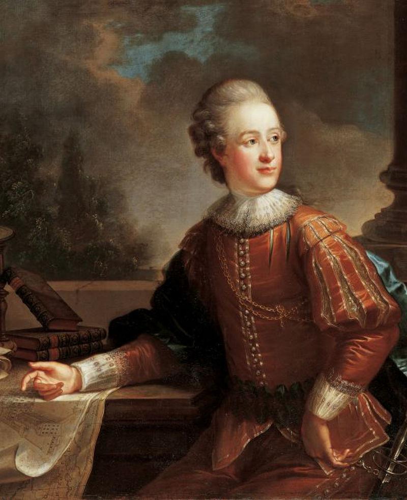 Portrait Alois Ier de Liechtenstein par Friedrich Ölenhainz 1804