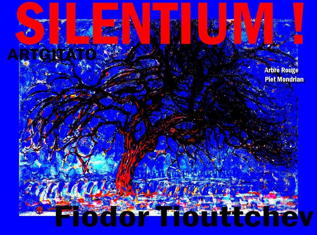 Silentium poème de Fiodor Tiouttchev Arbre Rouge Piet Mondrian Arbre Rouge