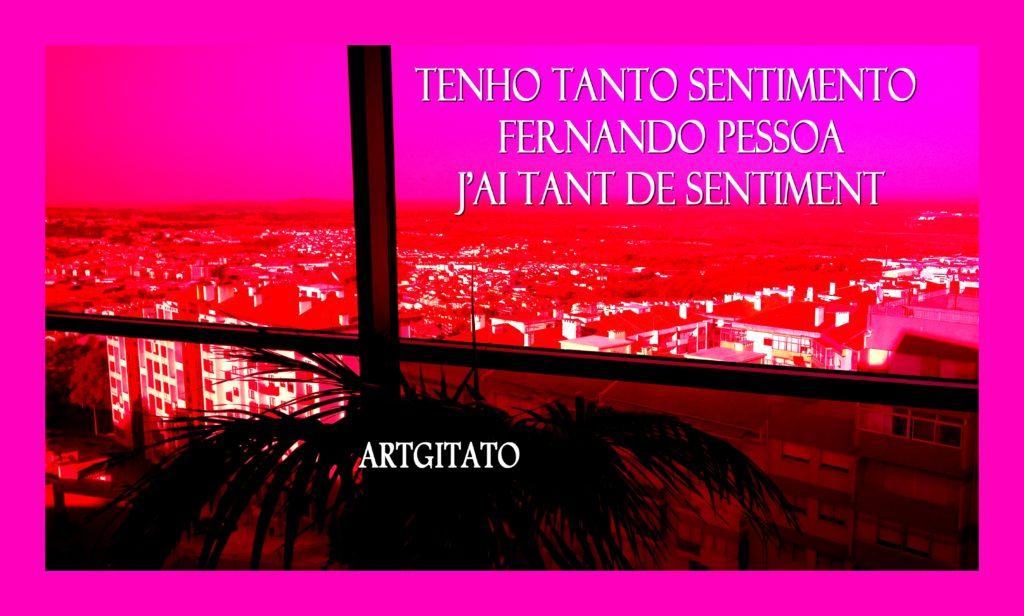 Tenho Tanto Sentimento J'ai tant de sentiment Fernando Pessoa Artgitato