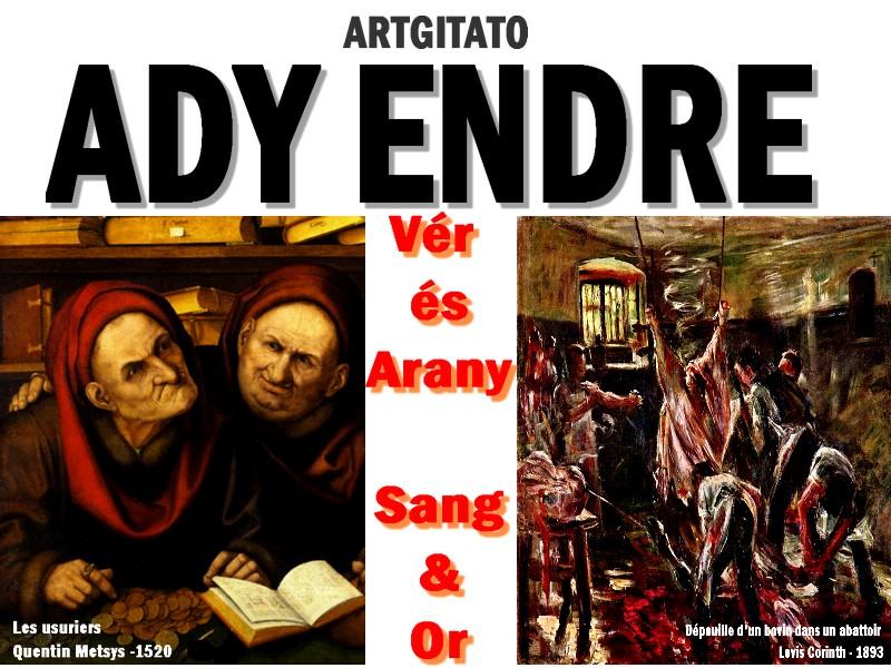 Vér és arany Sang et Or Ady Endre Ady poésie Artgitato